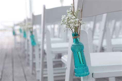 diy wedding aisle decor turquoise and coral diy wedding ceremony on the chesapeake bay nathaniel united with