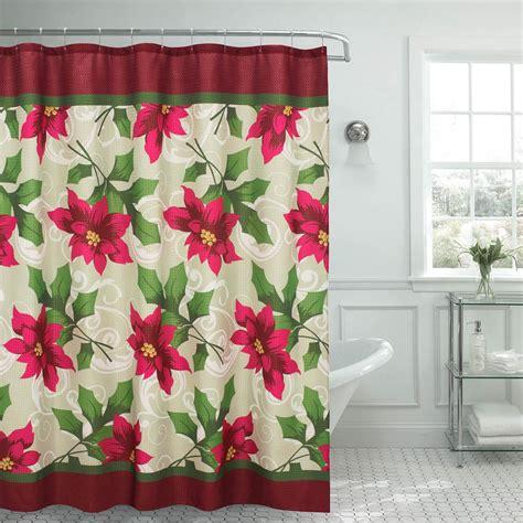 poinsettia shower curtain york shower curtain in linen 20582 the home depot