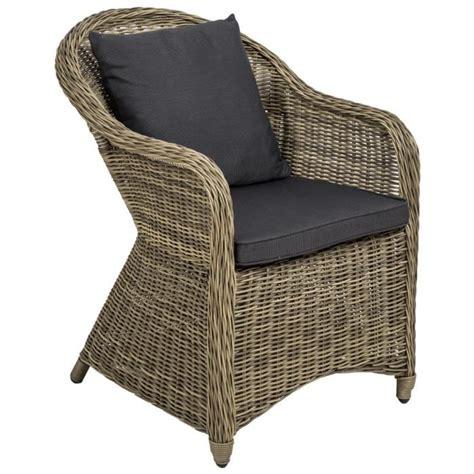 chaise salon de jardin chaise fauteuil de jardin de salon en r 233 sine tress 233 e poly