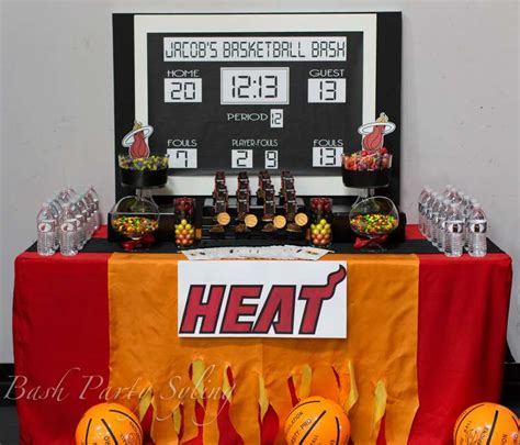 Nba Baby Shower Theme by Miami Heat Basketball Birthday Ideas Photo 1 Of 14