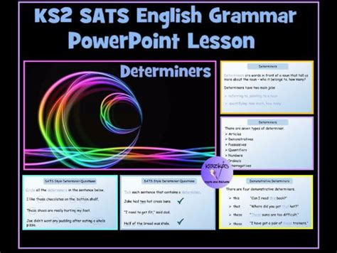 powerpoint tutorial ks2 ks2 sats english grammar revision powerpoint lesson on