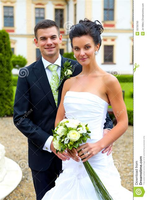 Featuring Engaged And Newly Married Couples by Happy Just Married Wedding Day Stock Image