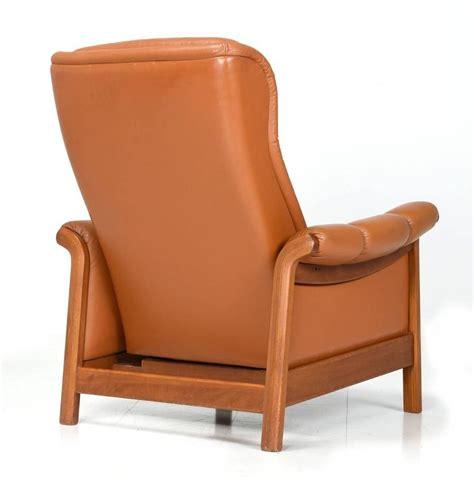 danish modern recliner danish modern teak and leather recliner 1960s at 1stdibs