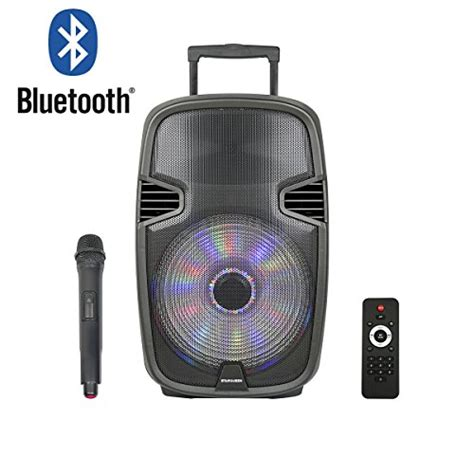 Speaker Portable Lifier Wireless Pa 15 E 15 Inch starqueen 15 portable outdoor bluetooth pa speaker system with wireless and