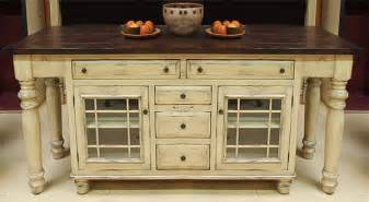 solid wood kitchen island with glass mullion lower cabinets