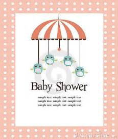 baby shower card for royalty free stock image image 13820596