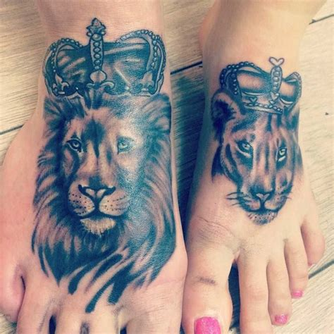 lion couple tattoos 1000 ideas about lioness on arm
