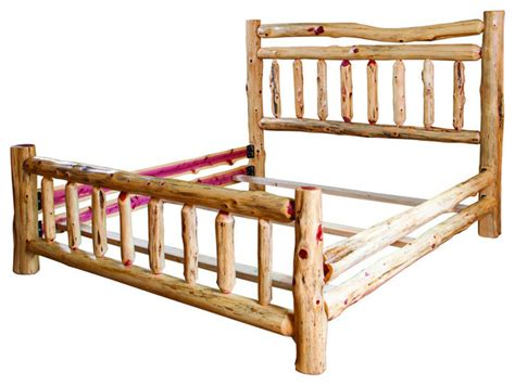 log bed frames rustic red cedar log full bed rustic bed frames