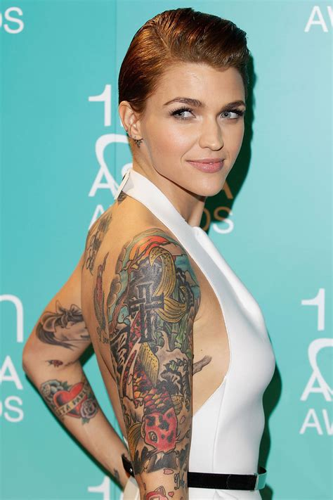 neck tattoo orange is the new black style we love ruby rose fashion quarterly
