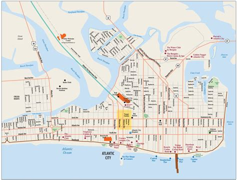 atlantic city map locations and map of atlantic city hotel atlantic city tourist map elsavadorla