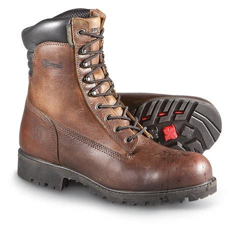 chippewa mens work boots s chippewa boots 174 8 quot steel toe work boots chocolate
