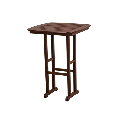 patio table home depot polywood la casa cafe black 36 in patio bar table