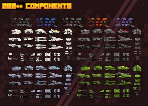 space shooter kit side scrolling  pzuh graphicriver