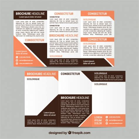 business leaflets templates for free template of business leaflet with geometric shapes vector