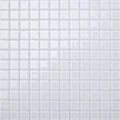 weisse bodenfliese glas mosaik fliesen matte f 252 r w 228 nde in reines wei 223 mt0079