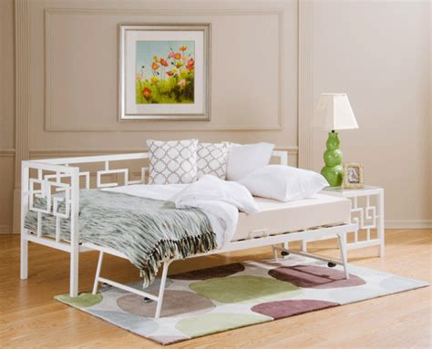 Daybed Style Sofa Metal Daybeds In A Medallion And Greek Key Design