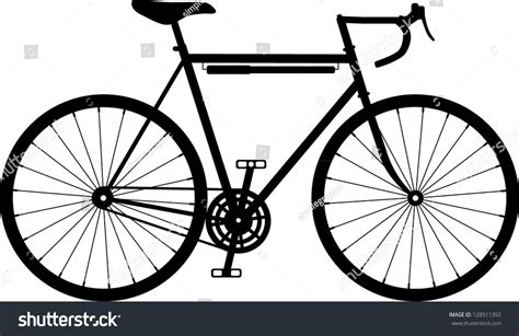 Road Bicycle Outline by Vintage Retro Classic Road Racing Bike Stock Vector 128511392