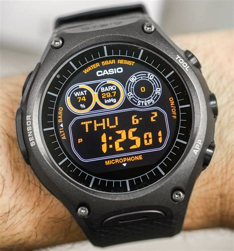 Casio Smartwatch Android Casio Wsd F10 Android Wear Smartwatch Review Ablogtowatch