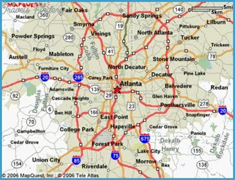 atlanta map in us atlanta map travelsfinders
