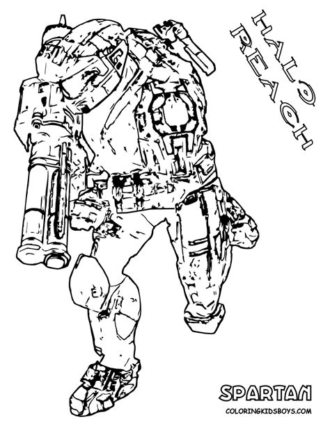 Heavy Halo Reach Coloring Free Halo Reach Halo 3 Spartan Coloring Pages