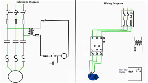 motor starter diagram start stop 3 wire starting