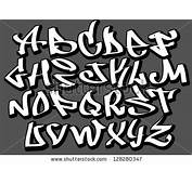 Cool Writing Fonts Graffiti Stock Vector Font
