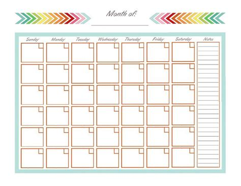Organization Calendar Templates home management binder monthly calendar blank monthly