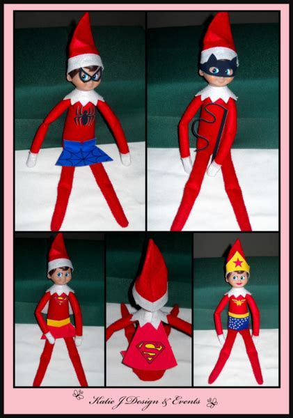printable elf on the shelf costumes elf on the shelf superheroes girls ideas stickers