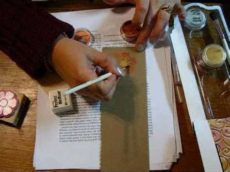 tutorial scrapbooking en español scrapbooking en espa 241 ol tutorial perfect pearls youtube