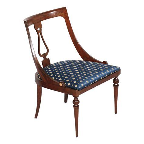 sedia antica antica sedia a gondola noce impero 800 restaurata
