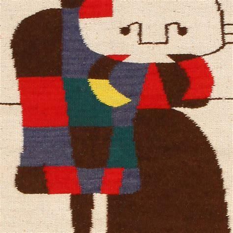 miro rug joan miro inspired mid century tapestry rug at 1stdibs