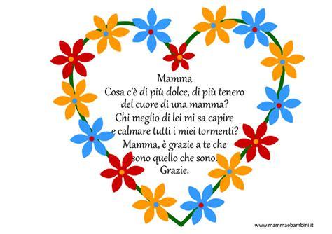 lettere x la mamma poesie sulla mamma con cornicette da stare mamma e