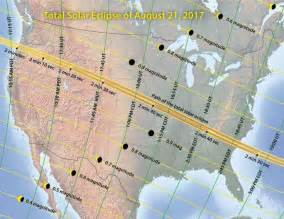 Map of total solar eclipse across united states four years from today