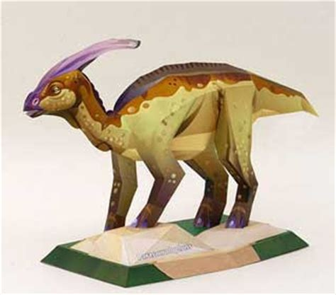 Papercraft Dinosaur - dinosaur papercraft parasaurolophus paperkraft net