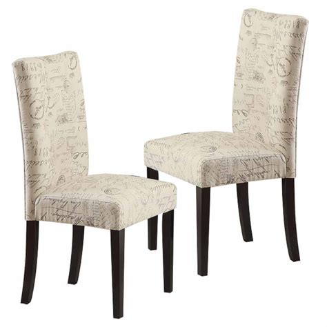 set of 2 dining side chair upholstery script micro
