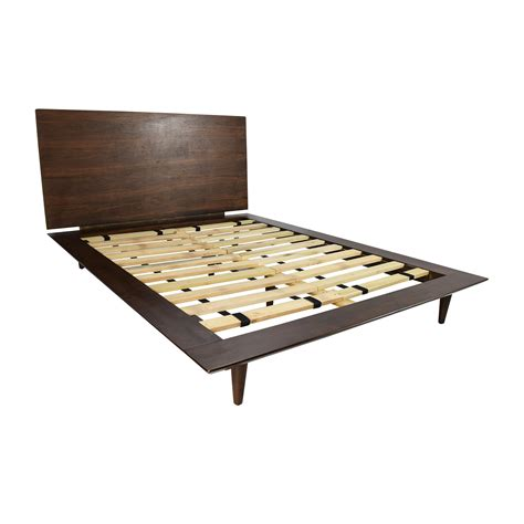 full wood bed frame 86 off full size brown wood bed frame beds
