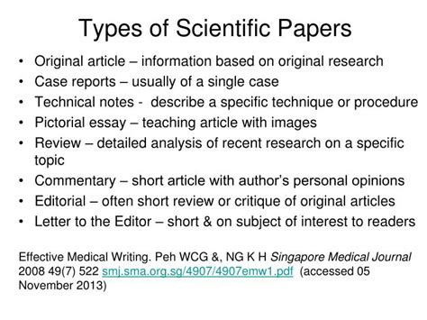 types of scientific research papers ppt how to read a scientific paper powerpoint