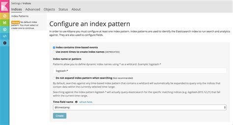 Elasticsearch How To Create Index Pattern For Kibana Stack Overflow Elasticsearch Template Tutorial