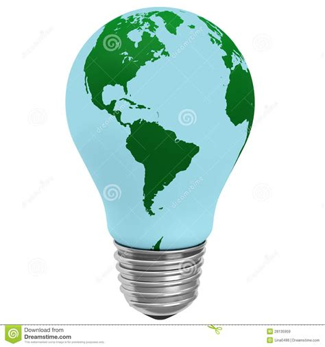 globe electric light electric light bulb with a globe royalty free stock