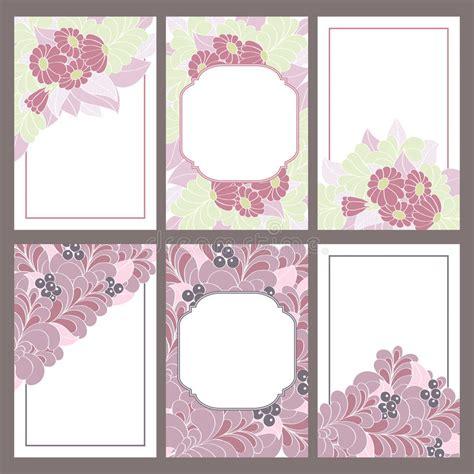 un insieme di fiori un insieme di sei telai dell annata decorati con i fiori