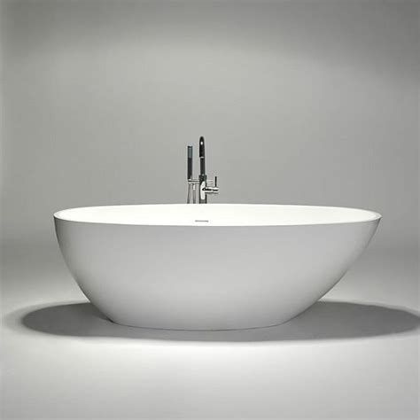 oval bathtub the delicate blustone oval freestanding bathtub