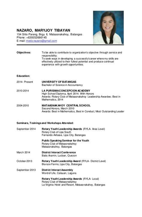 resume sle personal background danaya us