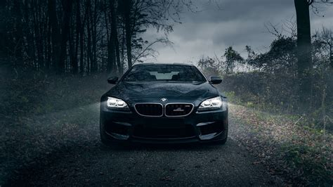 bmw black car wallpaper hd 1920x1080 wallpaper bmw m6 dark knight black forest