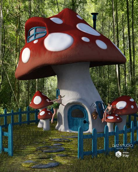mushroom house mushroom house 3d models and 3d software by daz 3d