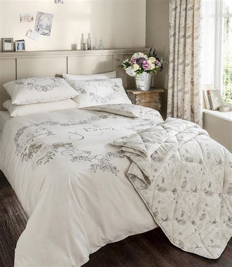 nature bedding catherine lansfield je t aime duvet set modern floral