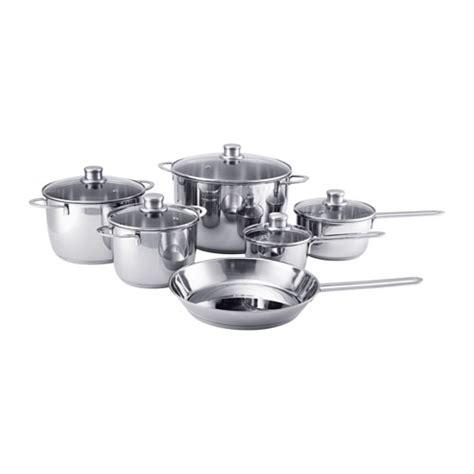 Panci Homecook polerad 11 cookware set ikea