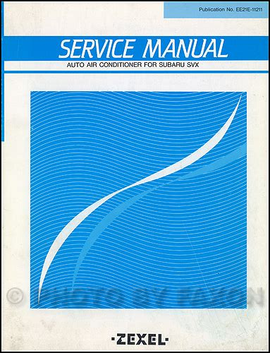 service manual auto air conditioning service 1985 mercedes benz s class spare parts catalogs 1992 subaru svx air conditioner repair shop manual original supplement