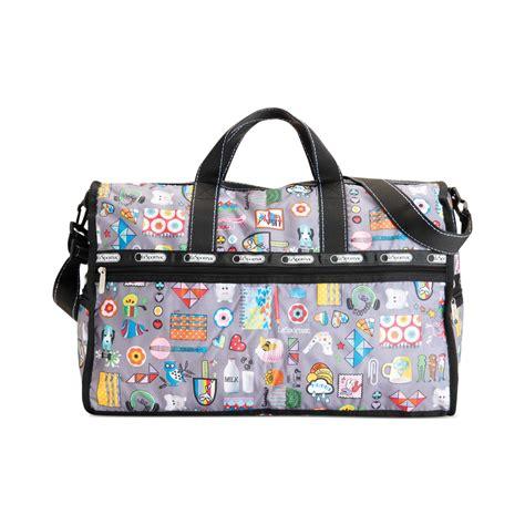 Lesportsac Large Weekender Bag lesportsac large weekender bag in gray lyst