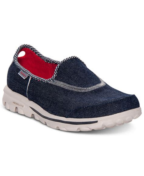 macys athletic shoes skechers s gowalk quot americana quot walking sneakers