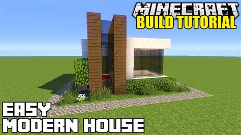 minecraft modern house tutorial minecraft how to build a small modern house tutorial